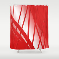 Thunderbird Orange Strings Shower Curtain by deluxephotos