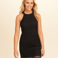 Girls High-Neck Lace Bodycon Dress | Girls Dresses & Rompers | HollisterCo.com