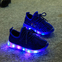 Kids Shoes With Light 2016 Spring Baby Boys Girls Shoes Chaussure Led Enfant Child Fashion Breathable Boys Sneakers Size 21-35