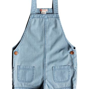 Girls 2-6 Eyes Flew Open Denim Romper ERLDS03026 | Roxy