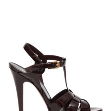 SAINT LAURENT Tribute Patent Leather Sandal