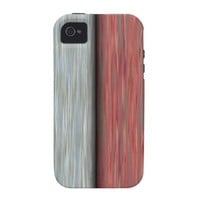 Retro Bicolor Thin Wood Panel. Grunge Pattern Case For The iPhone 4 from Zazzle.com