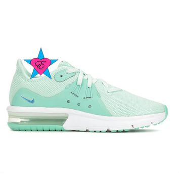 Bedazzled Aqua Nike Air Max Sequent 3 | 10.5-3