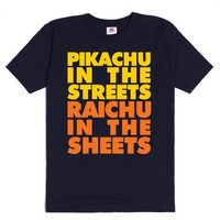 Pikachu In The Streets-Unisex Navy T-Shirt