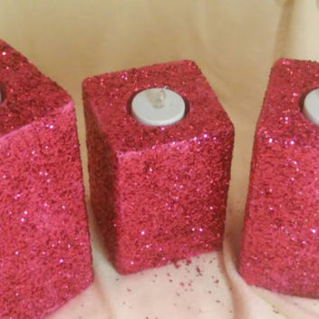 PINK GLITTER CANDLES