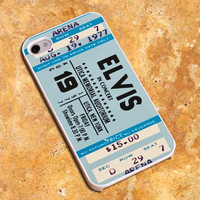 Elvis Ticket Concert Design For iPhone4/4s Case, iPhone 5/5s/5c Case, Samsung S3/S4 Case