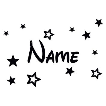 Waterproof Wall Sticker Carving Personal Name Decal Wallpaper Stickers Stars Decor Vinyl Home Decoration Accessories Size30*20cm