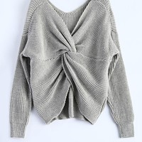 Tara Twisted Back Sweater