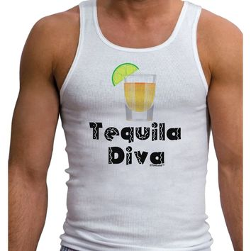 Tequila Diva - Cinco de Mayo Design Mens Ribbed Tank Top by TooLoud