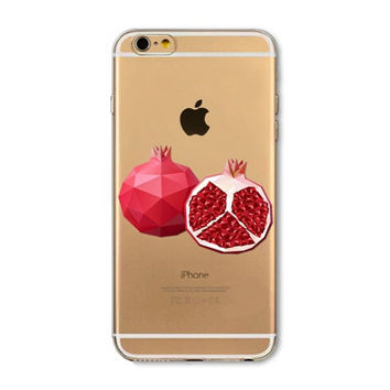 Pomegranate mobile phone case for iphone 5 5s SE 6 6s 6 plus 6s plus + Nice gift box 072701