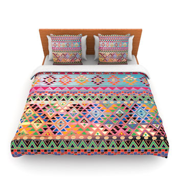 "Nika Martinez ""Tribal Native"" Red Pattern Fleece Duvet Cover"
