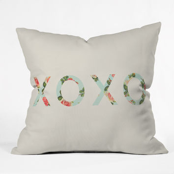 Allyson Johnson Floral XOXO Throw Pillow