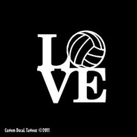 "Love Volleyball Car Window Decal Sticker White 4"" : Amazon.com : Automotive"