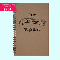 Our 2nd Year Together - Journal, Book, Custom Journal, Sketchbook, Scrapbook, Extra-Heavyweight Covers
