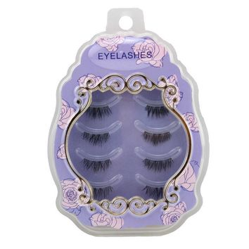Thick Long Sexy Hot Deal Hot Sale Handcrafts Transparent Stalk False Eyelashes [6532487367]