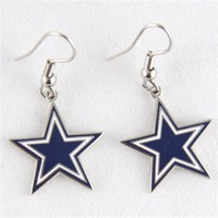 Dallas Cowboys Logo Wire Earrings