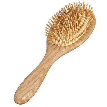 Wooden Paddle Brush Anti-static Spa Massage Wood Hair Comb