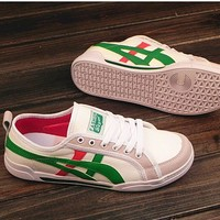 Fashion Canvas Flats Sneakers Sport Shoes Green