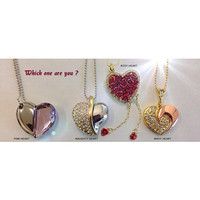 All Heart Pendants with 32 GB Flash Drive