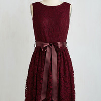 Lovely as Lychee Dress in Wine | Mod Retro Vintage Dresses | ModCloth.com