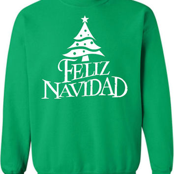 Feliz Navidad Merry Christmas Xmas happy holidays mexico US USA Canada Clothing tee Unisex Style Funny sweater sweatshirt christian ML-134