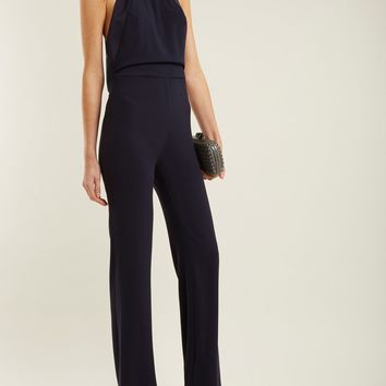 Rio halterneck tassel-trimmed satin jumpsuit | Galvan | MATCHESFASHION.COM UK