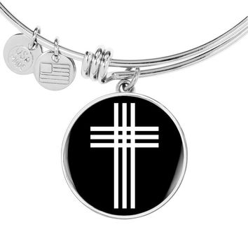 Stylized Cross v2 - Bangle Bracelet