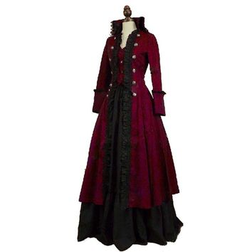 High Quality Victorian Edwardian Penny Dreadful Vampire Steampunk Pirate  Dress Halloween Costume