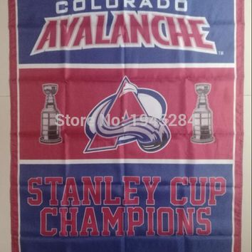NHL Colorado Avalanche Stanley Cup Champions Flag Banner New 3x5ft  90x150cm Polyester Flag, free shipping