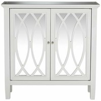 Ellie White and Mirrored Chest - #Y1918 | LampsPlus.com