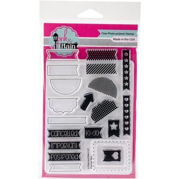 """Pink & Main Clear Stamps 4""""""""X6""""""""-Planner Tabs"""