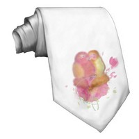 Valentine Love lovebirds tie.