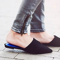 Jeffrey Campbell + Free People Womens Dayna Point Flat
