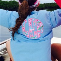 Monogrammed Fishing Shirt with Lilly Pulitzer Accents