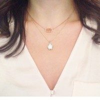 Catherine Necklace in Crackle Crystal - Kendra Scott Jewelry