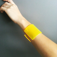 The Answer Is Clear Handmade Lucite Acrylic Cuff - Multiple Colors to Choose From