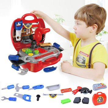 Kids Tool Set Simulation Engineer Tools Toy Child Tool Box Kids Gift Children For Tools Children Pretend Repair Play Toys