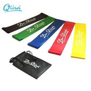 Dr.Qiiwi (3Pcs/Set) Rubber Loop Bands Set Training Workout Resistance Bands for Sports Exercise CrossFit Stretching Fitness Body