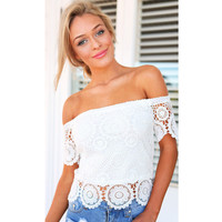 High Quality Lace Hot Sale T-shirts [5024194436]