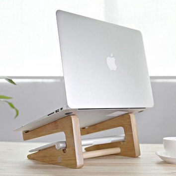 Detachable Wooden MacBook Stand