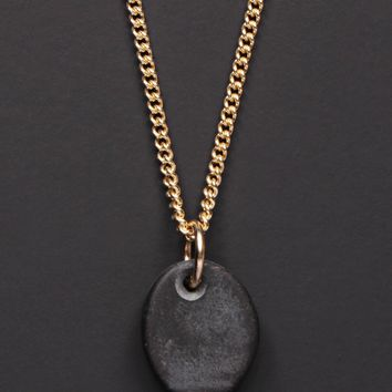 """Set in Stone"" 14k Gold Curb Chain Necklace for Men"