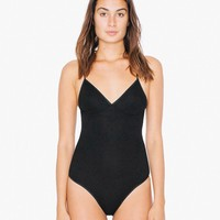 2x2 Rib Triangle Top 'Sofia' Bodysuit | American Apparel