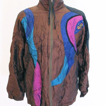 Vintage 1990s Crazy Pattern Indie Psychedelic Festival Jacket 2XL