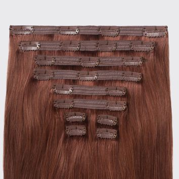 Ombre clip in hair extensions dark from luxyhair vibrant auburn 33 20 pmusecretfo Choice Image