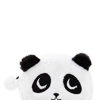 Fuzzy Panda Bear Makeup Bag