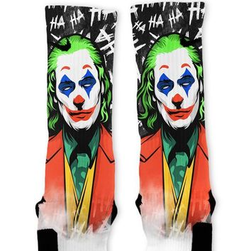 Ha Ha Ha Villain Custom Nike Elite Socks