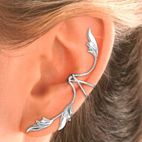 Full Ear, 3 Leaf Ear Cuff Earring in Sterling Silver - 1 ea