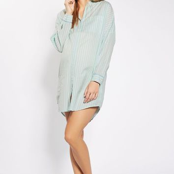 MATERNITY Stripe Sleepshirt - Maternity - Clothing
