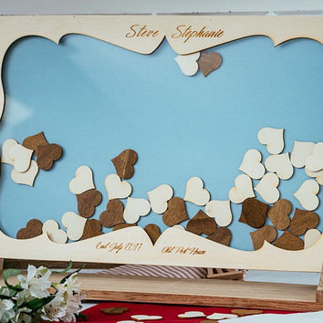 Wedding Drop box guest book with hearts