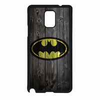 Batman Logo On Wood Samsung Galaxy Note 4 Case